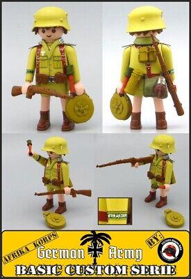 Playmobil Custom WW2 Soldado Sturmpioniere AFRIKA KORPS EJERCITO ALEMAN guardia