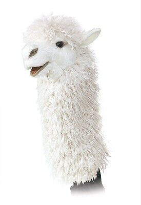 (Alpaca Stage Hand Puppet w/ Movable Mouth, Folkmanis MPN 2885, 3 & Up, Unisex)