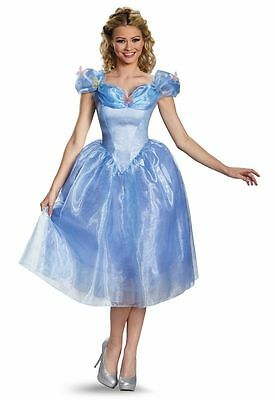Cinderella Movie Adult Deluxe Halloween Costume Size (Adult Deluxe Cinderella Kostüm)