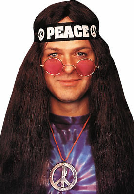 Hippie Kostüme Kit (Morris Costumes 60S Style Glasses Peace Necklace Headband Hippie Kit. BB467)