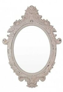 Decor Oval Ornate Shabby Chic Decorative Wall Looking Glass Mirror