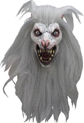 Deluxe Werewolf Mask (Snow Beast Carnivorous Wolfman DELUXE ADULT LATEX WHITE MOON WEREWOLF)