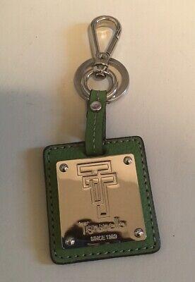 Tignanello Fob Key Ring Green Leather