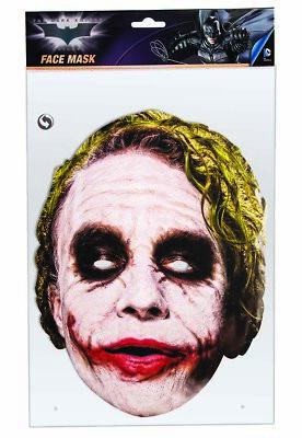 Joker Dunkler Ritter Halloween Kostüm-zubehör Maske 36671 (Der Joker Kostüm Zubehör)
