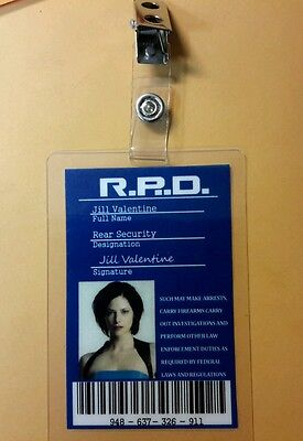Resident Evil Id Badge-R.p.d Jill Valentin Requisite Kostüm - Jill Valentine Kostüm