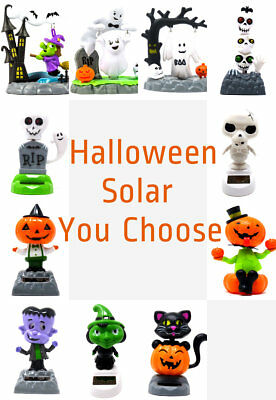 Solar Powered Dancing Halloween Pumpkin Cat Skeleton Ghost Witch ~ You Choose  (Dancing Halloween Witches)