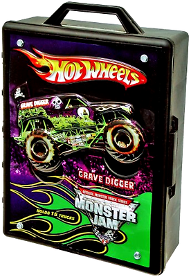 Hot Wheels Monster Jam 15- Truck Storage With Carrying Handl