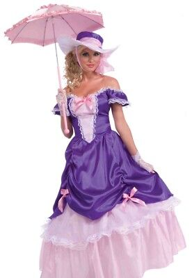 Southern Belle Costume Dress Adult Womens Purple & Pink Blossom - Fast Ship -](Belle Costume Womens)