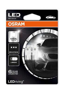 Osram LED 6000K Cool White W5W (501) Wedge 12V 1W Led Bulbs Long Life 2850CW-02B