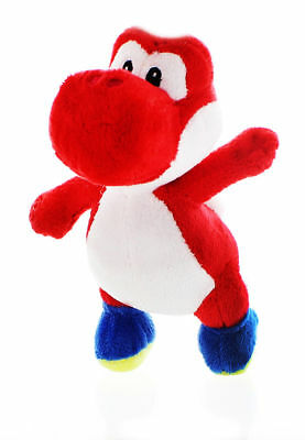 "NWT 8"" Nintendo Super Mario Bros Yoshi Plush Toy Stuffed Licensed - Red"