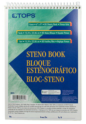 Tops Steno Book Pitman Rule 80 Sheets