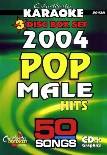 2004 MALE POP HITS CHARTBUSTER CBG5043 , 50 KARAOKE SONGS ON 3 CDG S - $15.99