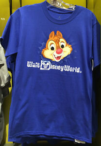 Walt Disney World Chip and Dale 2 Side Adult T Shirt NEW