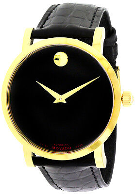 Movado Red Label Gold PVD Exhibition Auto Men Watch 0607007 - New Arrival Sale