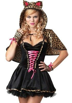 FRISKY KITTY SEXY KITTEN ADULT HALLOWEEN COSTUME WOMEN'S SIZE MEDIUM - Frisky Kitty Kostüm