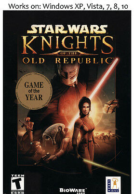 Star Wars Knights of the Old Republic PC Game Windows XP Vista 7 8 (Knights Of The Old Republic Windows 7)