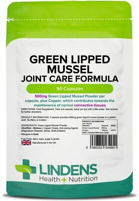 Lindens Green Lipped Mussel Extract 90 Capsules 500mg Best Quality (Best Green Lipped Mussel)