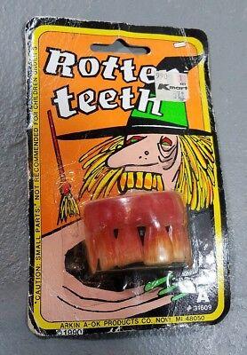 VINTAGE fake teeth costume rotten teeth accessories Halloween collectible - Fake Rotten Teeth Halloween