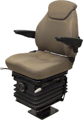 John Deere Backhoe Seat Brown Fabric Fits 310g 310j 310sg 315sg 315sj 325j 410j