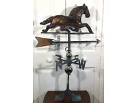 NEW LARGE Trotting HORSE Weather vane AGED COPPER HANDCRAFTED PATINA FINISH