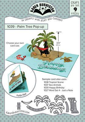 Karen Burniston 1039 - PALM TREE POP-UP Craft Die Set 9 pieces Wafer Thin