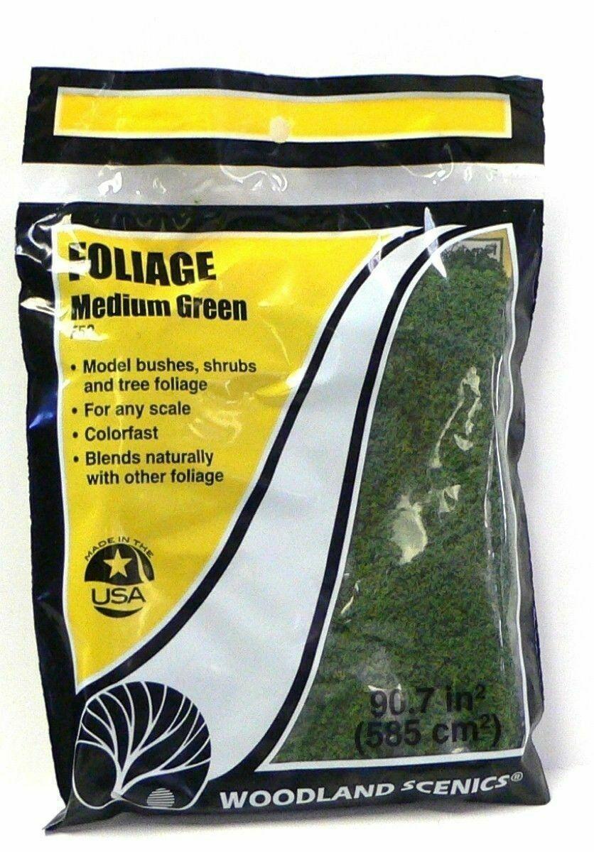 Woodland Scenics ~ Foliage ~ Bushes & Shrubs ~ Medium Green ~ Any Scale ~ F52