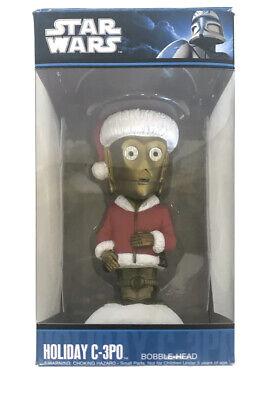 2010 Star Wars Funko Holiday C-3PO Bobble-Head Christmas Santa Gift