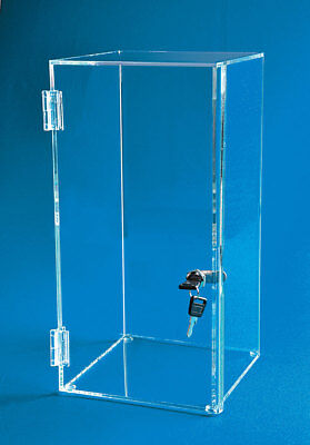 Locking Display Case 24h X 10w X 11d - Doll Case Collectible Display - 2 Tall