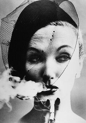 William KLEIN: Smoke + Veil, Paris (Vogue), 1958 / Silver print / SIGNED!!!