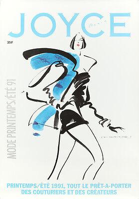 Original Vintage Poster Joyce French Fashion Magazine Design Haute Couture 1991
