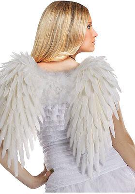 Gefedertes Weiß Wings Engel Teufel Sexy Erwachsene Halloween - Engel Teufel Kostüm Zubehör