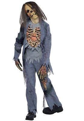 Halloween Kostüm Jungen Gr.  152 158 Zombie Leiche mit Maske Kinder neu - Zombie Kostüm Kinder