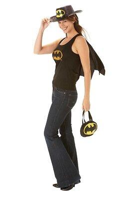 BATGIRL  RUBIES  889375  WOMENS  TANK TOP WITH CAPE   BAT GIRL  MEDIUM uk 12-14 (Batgirl Costume Uk)