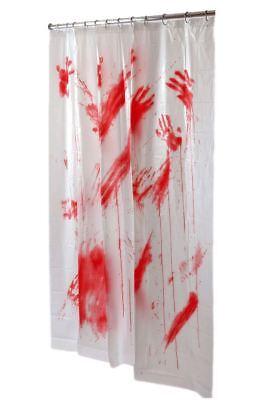 Halloween Horror Psycho Blut Blutige Badezimmer Bad Duschvorhang Dekoration