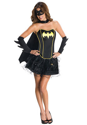 Womens Sexy BATMAN BATWOMAN HERO COMIC CARTOON Fancy Dress Costume - Batman Cartoon Kostüm