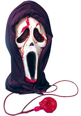 Blutend Bloody Scream Maske mit Blood & Pumps - Scream Kostüm Mit Blut