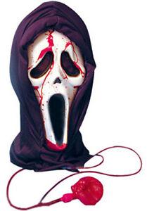 BLEEDING BLOODY SCREAM MASK WITH BLOOD & PUMP HALLOWEEN PARTY FANCY DRESS V09640