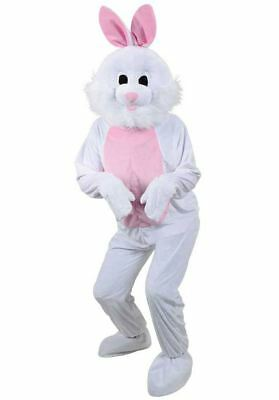 Adult Easter Bunny Rabbit Costume Plush Mens Ladies Mascot Fancy Dress Outfit
