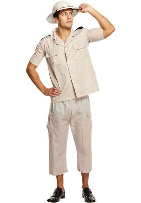 Mens Safari Explorer Australian Hunter Fancy Dress Costume with Pith Helmet Hat](Safari Costume Male)