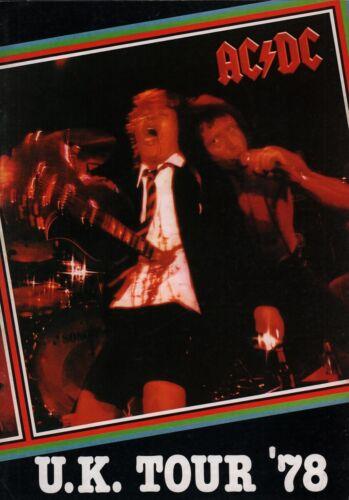 AC/DC 1978 IF YOU WANT BLOOD UK TOUR CONCERT PROGRAM BOOK / BON SCOTT / NM 2 MNT