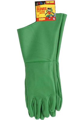 Robin From Batman Costume (Robin Adult Gloves From Batman Costume Accessory Super Hero Sidekick)