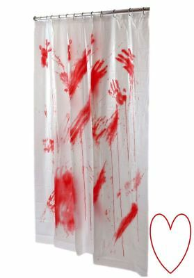 Blutige Duschvorhang Halloween Horror Psycho Blut Badezimmer Bad Dekoration