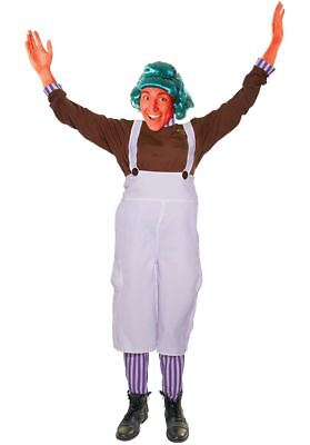 Adults Unisex Choclate Factory Worker Umpa Lumpa Fancy Dress Costume (Umpa Lumpa Costume Womens)