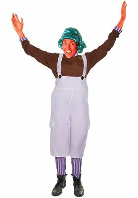 Adults Unisex Choclate Factory Worker Umpa Lumpa Fancy Dress Costume](Willy Wonka Oompa Loompa Halloween Costume)