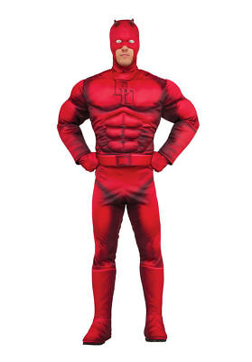 Marvel Universe Superhero Daredevil Costume Adult Rubies Standard Halloween  - Marvel Daredevil Costume