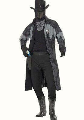Phantom Sheriff Ghost Town Fancy Dress Costume Halloween Outfit Wild West - Halloweentown Kostüm