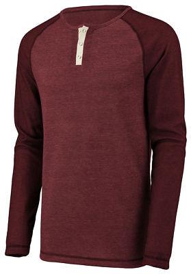 Augusta Sportswear Men's Linear Fusion Long Sleeve Crewneck Henley T-Shirt. 2150 Augusta Sportswear Henley