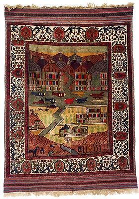Warrug Mujahedin attacked on Jalalabad city in 1989 Afghan Carpet Kriegteppich