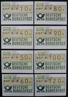 BRD ATM MK 1980 TS 1 AUTOMATENMARKEN 14 MAXIMUMKARTEN MAXIMUM CARDS MC CM h1065