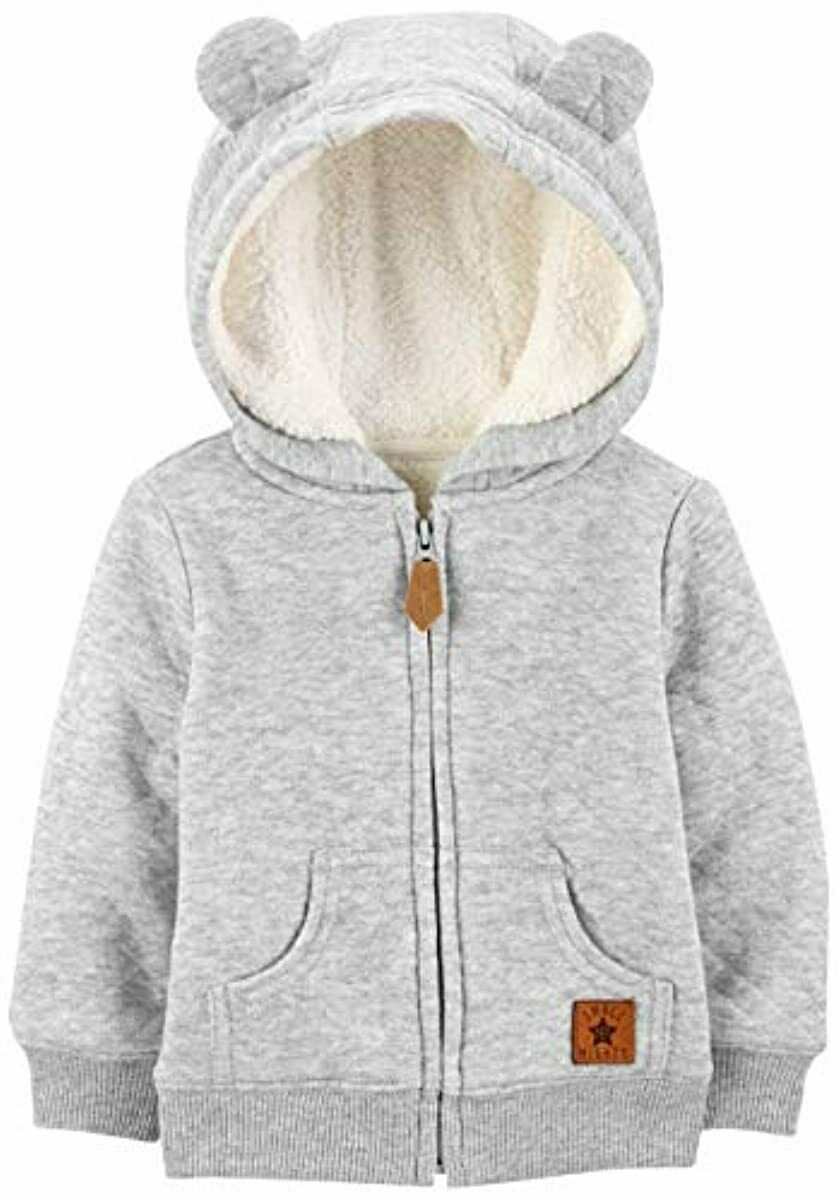 Simple Joys By Carter s Baby Hooded Sweater Jacket With Sherpa Lining - $22.51